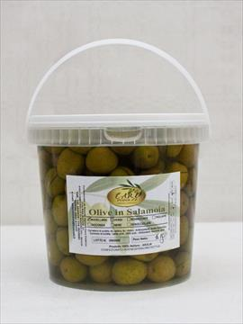 Bucket of Nocellara Pickled Green Olives.